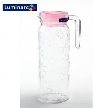 Luminarc樂美雅 浮雕刻花玻璃冷水壺1.1L