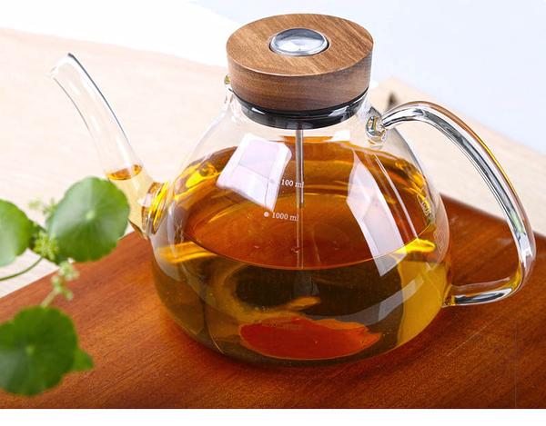 感溫手把燒水壺-(1200ml) 玻璃茶壺 玻璃燒水壺 耐熱 現貨