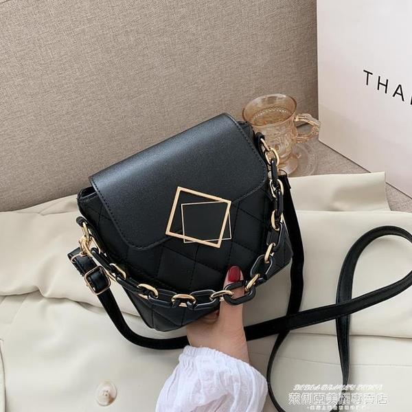 側背小包 時尚流行小包包女包2021新款潮韓版春季百搭水桶包網紅側背斜背包 萊俐亞