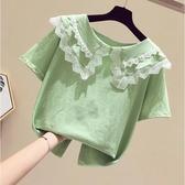 T恤 短袖2020夏裝新款洋氣小女孩潮童裝夏季半袖韓版兒童上衣(中秋禮物)