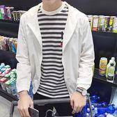 春夏季男士防曬衣休閒薄款青年韓版修身衣服學生帥氣網紗夾克外套 聖誕節禮物熱銷款
