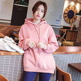 長袖T恤女上衣韓版~2311#有薄款和加絨寬松中長款連帽衛衣女外套ZLE02快時尚