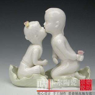 景德鎮陶瓷器  相親相愛