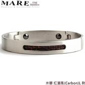 【MARE-316L白鋼】系列:米蘭 紅潮風(Carbon)L 款