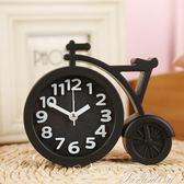 創意個性鬧鐘簡約現代客廳小臺鐘桌面臺鐘擺件鐘臥室時鐘臺式鐘錶  提拉米蘇