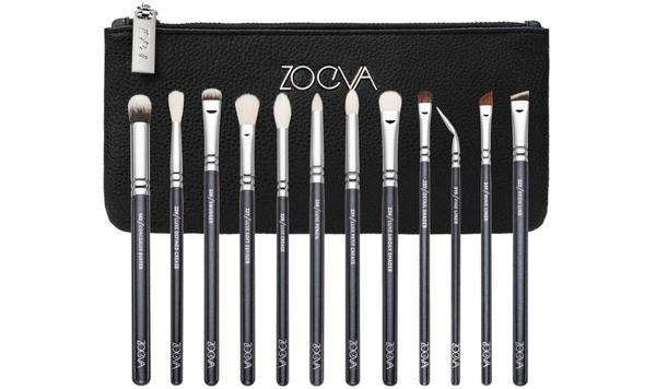 德國 ZOEVA 12 BRUSHES+CLUTCH COMPLETE EYE SET 12件限量黑色眼部刷具【愛來客】