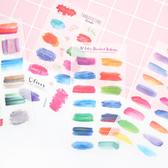 【BlueCat】初心依舊水彩色盤花草貼紙 裝飾貼紙 手帳貼紙