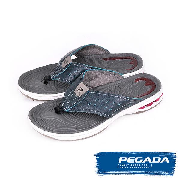 【PEGADA】巴西名品時尚夾腳運動涼拖鞋  水洗深綠(31903-WA/G)