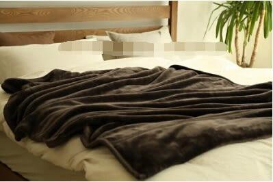 雙層加厚法蘭絨毛毯 空調被 深咖啡色【藍星居家】