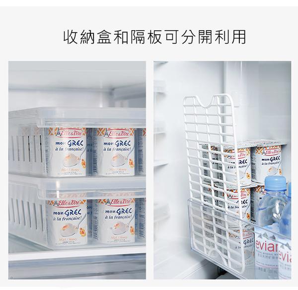 【日本霜山】冰箱生鮮/蔬果無分隔附蓋收納保鮮盒-3入組