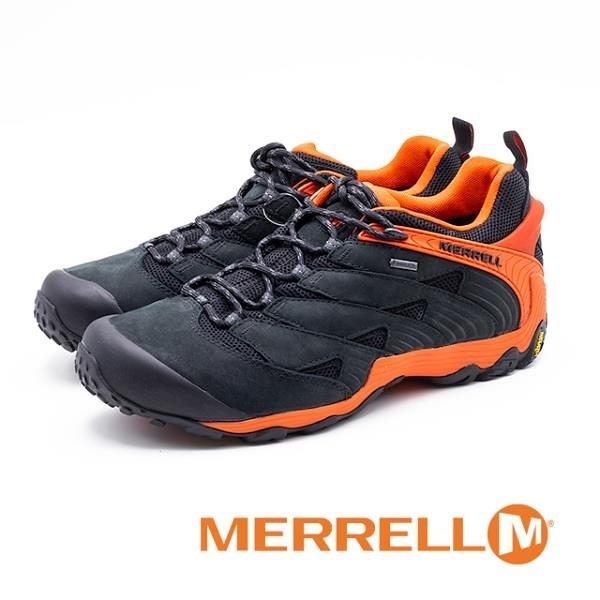 【南紡購物中心】MERRELL (男) CHAMELEON 7 MID GORE-TEX郊山健行鞋 -黑