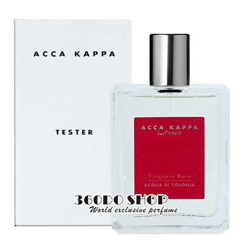 【Acca Kappa】Virginia Rose 玫瑰迷漾淡香水 100ML (TESTER-環保盒有蓋)
