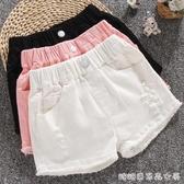 女童短褲夏裝新款外穿中大童牛仔褲百搭寬鬆韓版兒童褲子洋氣快速出貨