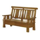 【采桔家居】亞托德 時尚柚木實木二人椅
