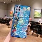 藍光SamSung S21手機套 日韓全包三星S21保護殼 卡通Galaxy S21+保護套 創意支架三星S21 Ultra手機殼