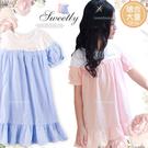 (大童款-女)輕夏直條紋假兩件洋裝-2色...