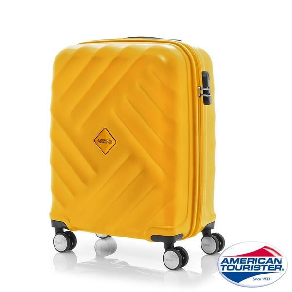 AT美國旅行者 20吋Gravity重力系列防刮飛機輪TSA登機箱(黃)