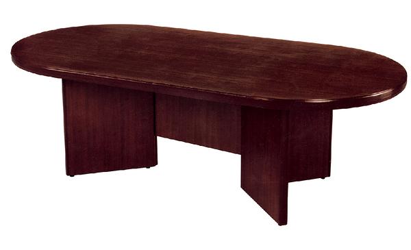 【IS空間美學】橢圓型會議桌(胡桃色)4x8尺(10人座)