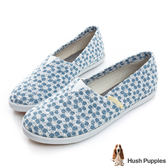 Hush Puppies 牛仔花園咖啡紗Tomoto懶人鞋-淺藍