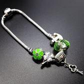 串珠手鍊-水晶飾品清新綠色生日情人節禮物女配件73bo88[時尚巴黎]