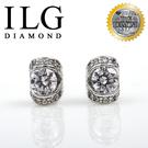 【ILG鑽】頂級八心八箭擬真鑽石耳環-ER064- 珍藏之情款 時尚風格閃閃發光
