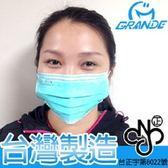 金德恩 台灣製 成人三層式防塵防敏口罩 50入-藍色