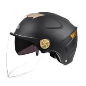 電動電瓶摩托車雙鏡頭盔男女通用夏季輕便式防曬防紫外線安全帽