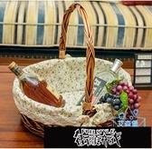 菜籃 果籃裝水果送禮水果籃手提籃子禮品籃子水果店郊游野餐小籃子【全館免運】