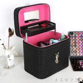 化妝包大容量韓國女多功能層手提大號化妝箱小號簡約便攜品收納盒      良品鋪子
