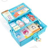 美術工具箱 用品工具箱多功能畫箱大號三層手提式兒童繪畫畫小學生收納箱 3色