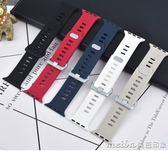 適用蘋果手錶錶帶apple watch錶帶iwatch2/3硅膠運動款42mm38男女 美芭