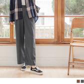 《BA4620》毛料質感打褶簡約寬褲 OrangeBear
