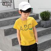 短袖T恤  童裝男童夏天短袖T恤兒童體恤衫2019夏裝新款中大童韓版