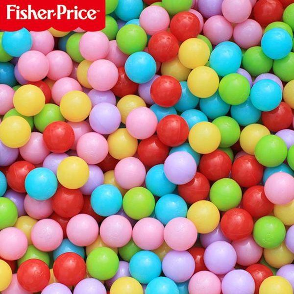 費雪波波海洋球加厚彈力球嬰兒玩具球池寶寶玩具兒童彩色球球池HRYC 生日禮物