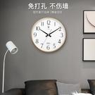 北極星掛鐘客廳簡約時鐘臥室靜音石英鐘小尺寸掛表家用時尚掛鐘 小山好物