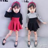 女童連身裙洋裝 連身裙寶寶女孩韓版長袖裙子洋氣公主裙 寶貝計畫
