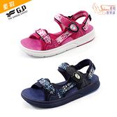 童鞋.G.P 兒童織帶綿綿鞋 涼鞋.藍/粉【鞋鞋俱樂部】【255-G0725B】