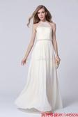 (45 Design) 訂做款式7天到貨歐美顯瘦性感抹胸晚禮服優雅雪紡長裙晚裝拼接禮服裙S10
