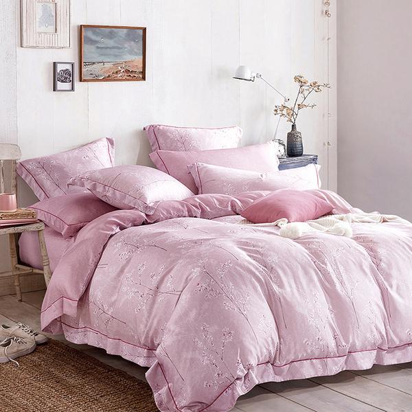 【Indian】100%純天絲雙人七件式床罩組-多林