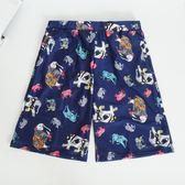 新款男士泳褲平角五分速干沙灘褲 情侶泳衣加大碼泳裝溫泉游泳衣 挪威森林