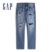 Gap 男裝 棉質水洗做舊五口袋牛仔褲 533379-經典做舊