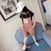 女童套裝韓版背帶褲短袖T恤小女孩兩件套