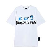 T恤 情侶印花質感短袖T恤UF0031-創翊韓都