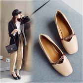丁果、大尺碼女鞋34-46►2019春韓版甜美風造型方頭中跟鞋子*3色