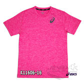 亞瑟士 ASICS 男女短袖T恤 (粉) 抗UV透氣T恤 K11606-16【 胖媛的店 】