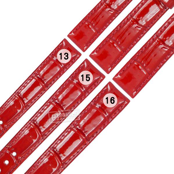 Watchband / 13.15.16 mm / SEIKO LUKIA  精工 別緻鮮亮 壓紋牛 皮替用錶帶 紅色 #213-SSLK-02