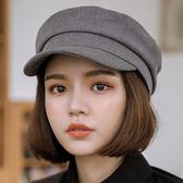 帽子 海軍帽子女韓版潮平頂休閑日系街頭百搭鴨舌英倫貝雷帽