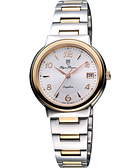 Olympianus 奧柏 時尚雅典女錶-銀/雙色版 5686MSR-銀/半金