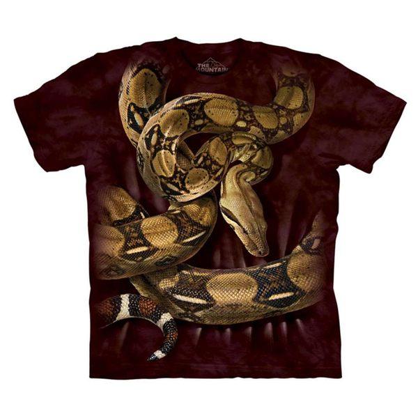 【摩達客】(預購)美國進口The Mountain 蟒蛇環繞 純棉環保短袖T恤(10416045080a)