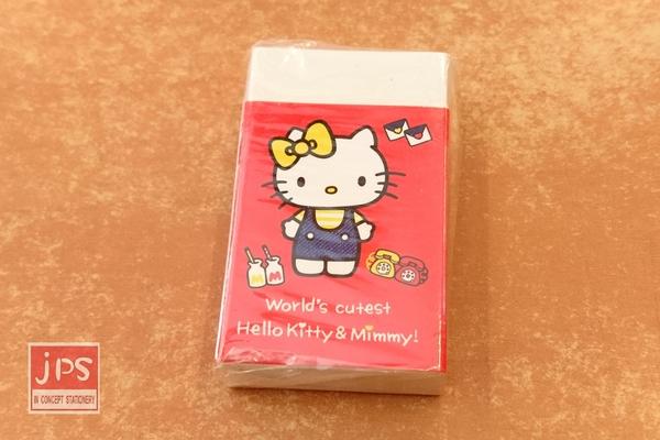 Hello Kitty 凱蒂貓 環保方塊橡皮擦 擦子 站立 紅